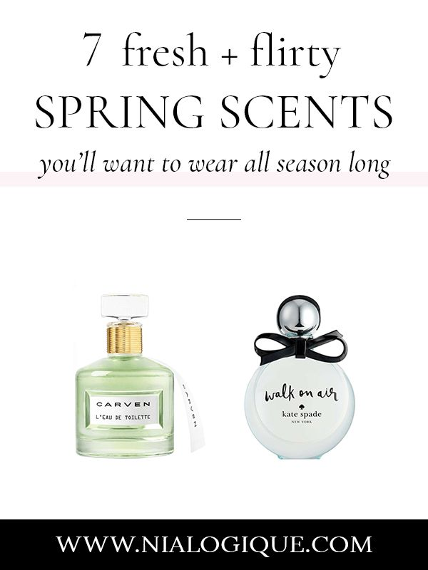 10 Fresh and Flirty Spring Scents You'll Want To Wear All Season Long | best spring perfumes, perfume for spring, spring fragrance, beauty tips, beauty blogger, body spray, eau de toilette, eau de parfum, jo malone, gucci, carven, burberry, kate spade, marc jacobs, chanel, springtime