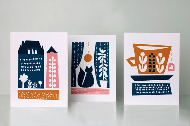 by Darling Clementine. Greeting cards.