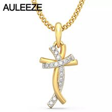 Classic Style Humanoid Cross Pendants 14K Yellow Gold Natural Real Diamond Jewelry Necklace Pendants Engagement Wedding Jewelry //Price: $US $423.00 & FREE Shipping //     #hashtag1