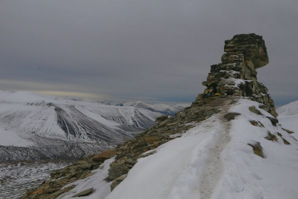 A full day guided hike to the summit of Trollsteinen in Svalbard (Norway), crossing the Lars glacier and offering spectacular alpine scenery.