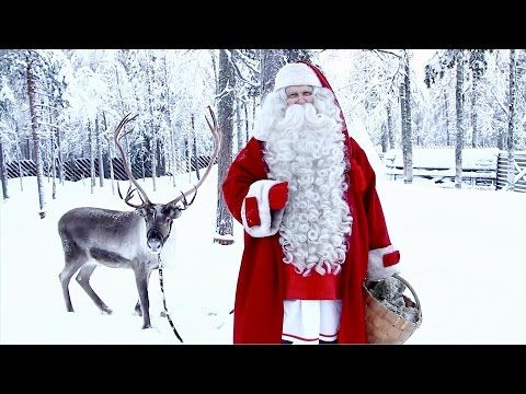 Greetings and message of Santa Claus just before Christmas