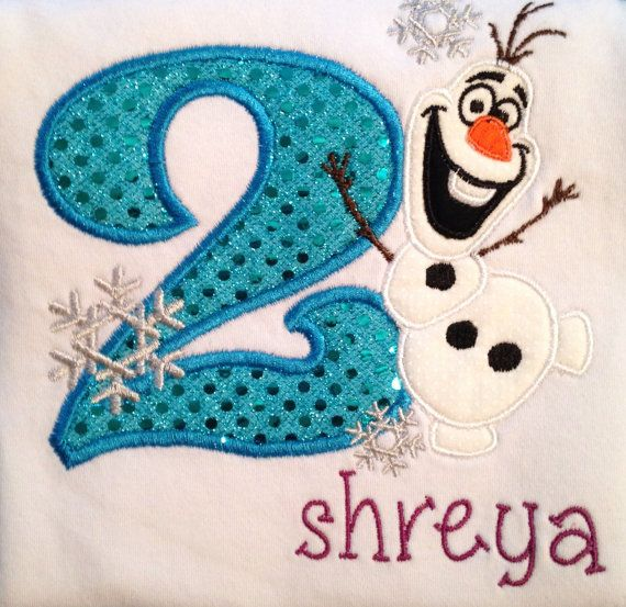 Frozen birthday outfit Frozen birthday shirt Olaf by loopsbowtique