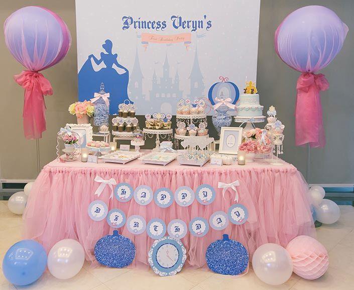 Fairytale Princess Themed 1 Year Old Birthday Party Photography Top 20 One Year Old Bir 1 Year Old Birthday Party Baby Girl Birthday Theme Girl Birthday Themes