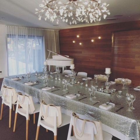 Silver Wedding Decor at Lure