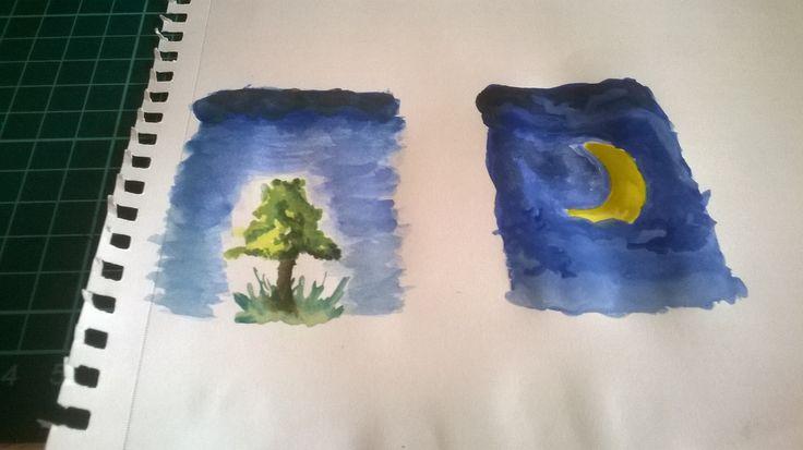 Moon , sky