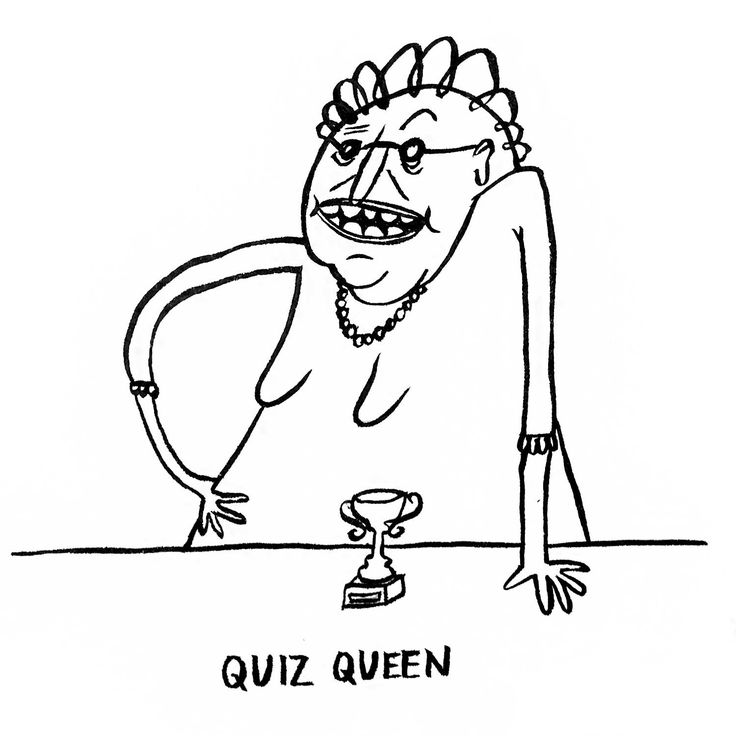 DAY 17 of Karo Rigaud's 2016 illustrated advent calendar: the Quiz Queen.