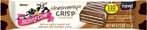 Nestle Skinny Cow Heavenly Milk Chocolate Crisp Bars, 0.77-Ounce (Pack of 18)
