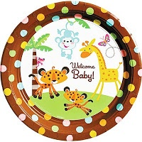 Jungle Baby Shower with the Fisher Price Rainforest pattern.