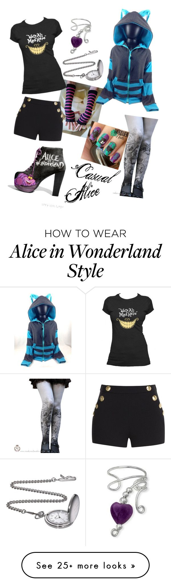 """Casual Alice"" by thistleofmilk on Polyvore featuring Boutique Moschino and Bling Jewelry"