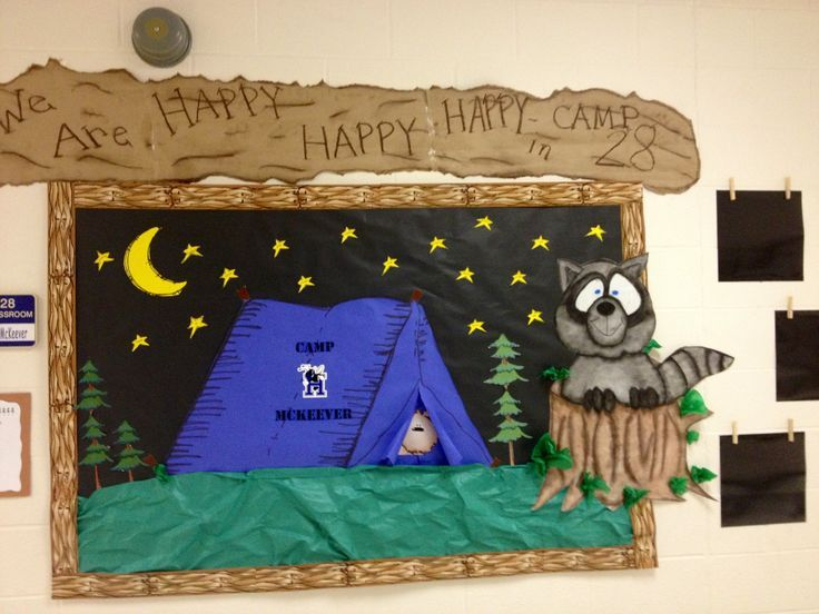 camping theme decorations   Camping theme.. Moms room   Ideas for School