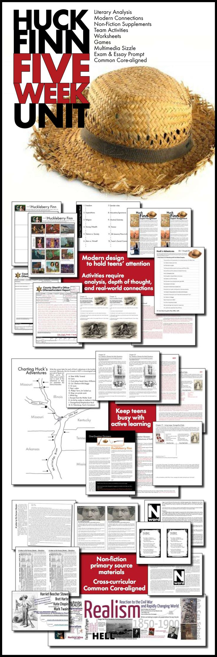 95 best literature images on pinterest classical education bring energy and excitement to your unit on the adventures of huckleberry finn with this massive bundle of beautifully designed materials that will take fandeluxe Choice Image