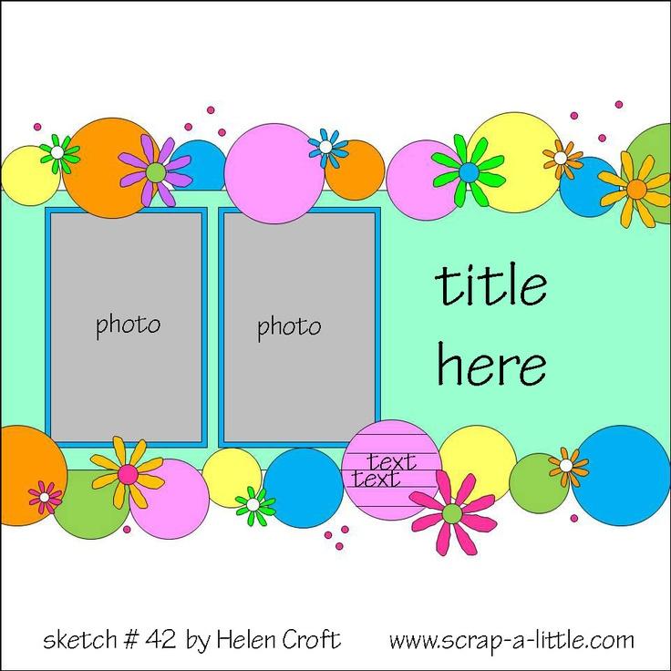 Scrap A Little- Sketches: 2 photos