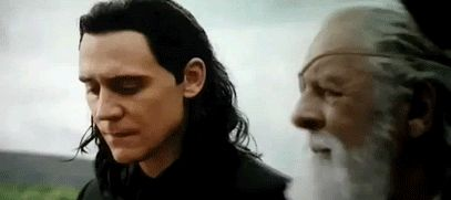 It looks like Odin actually said something nice to Loki for once!!