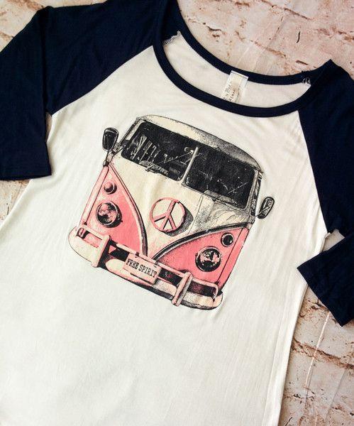 VW Bus Baseball Tee (Ladies)