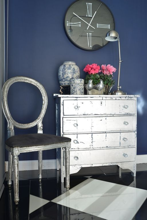 Garden and Home | Holiday DIY: Silver leaf chest of drawers