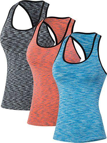 #Neleus #Damen #Sport #T #shirt #Gym #Elastische #Fitness #Tank #Top im 3er #Pack,500