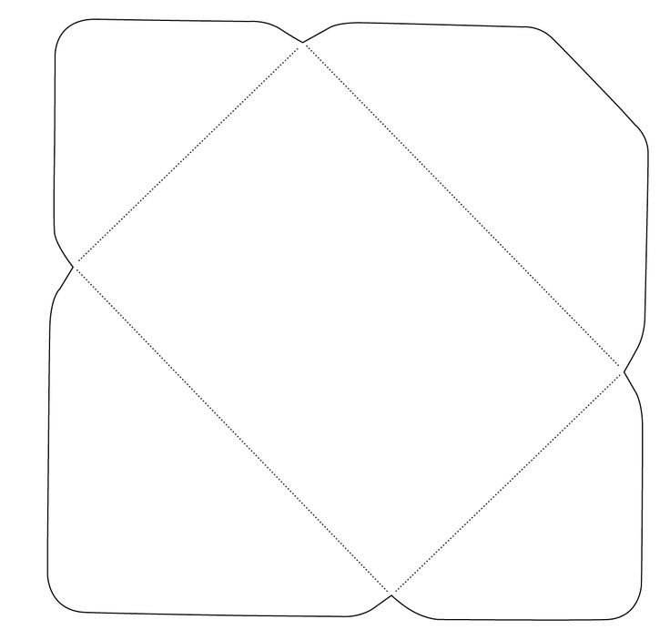 printable fancy envelope template pdf