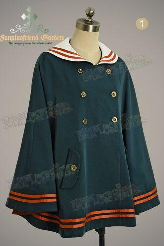 Military Lolita Sailor Collar Mandaren Color Cape*2colors Instant Shipping