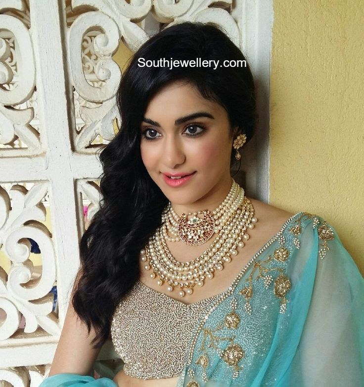 Adah Sharma in South Sea Pearls Choker and Haram