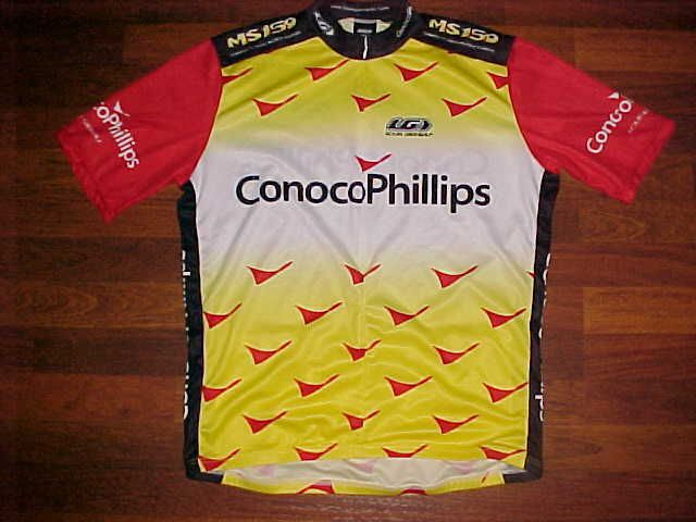 Louis Garneau Conoco Phillips Elevate Performance Men Bike / Cycling Jersey L #LouisGarneau