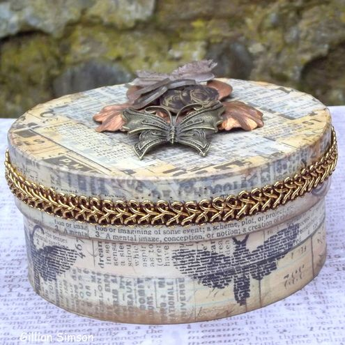 "Folksy :: Buy ""Altered Cheese Box - Vintage"" 