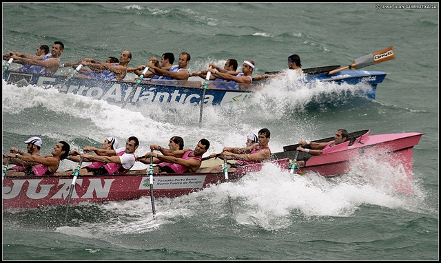 A traditional boat race (Estropadak). The speed is nothing short of amazing!