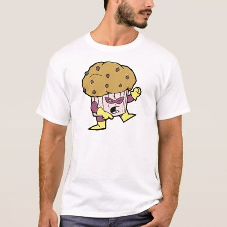 Muffin Man Super Hero / Superhero Junk Snack Food T-Shirt - tap, personalize, buy right now!