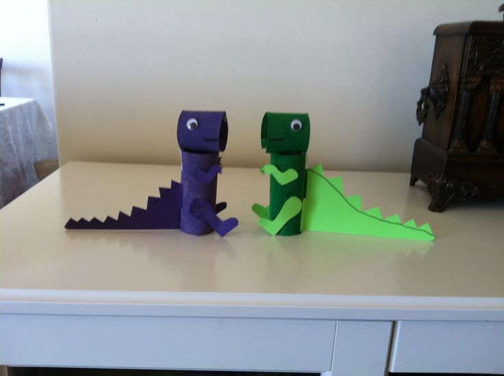 how to make a dinosaur from cardboard