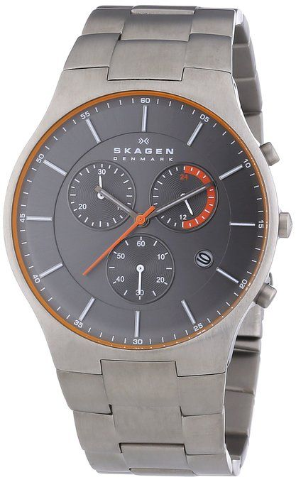 skagen herren armbanduhr xl chronograph quarz titan. Black Bedroom Furniture Sets. Home Design Ideas
