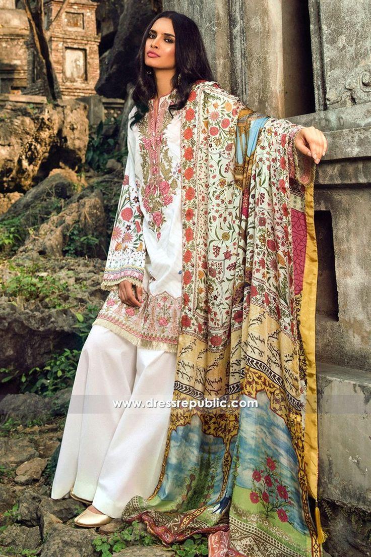 Shirt design 2017 female - Zara Shahjahan Lawn 2017 Online Buy In Norway Holland Germany White Shirtspakistani Designer