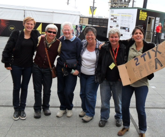 Some ticketless fans we managed to help out at the NZ International Arts Festival - Groovy people too, awesome to have them in the audience!