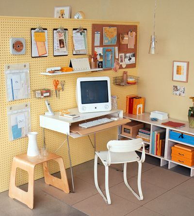 Home Office Pegboard Organizer by decorology, via Flickr