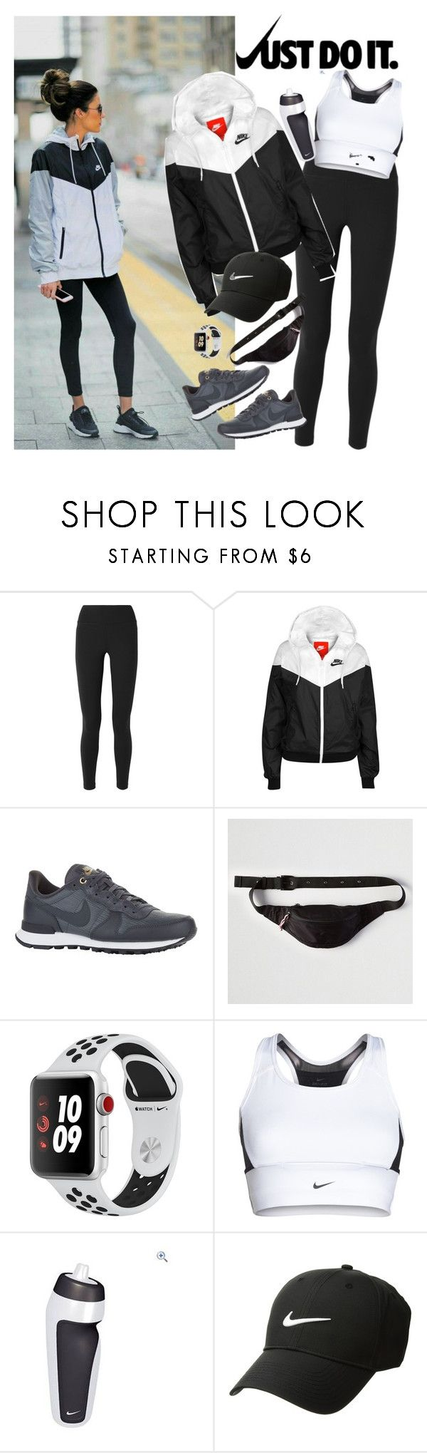 """""""Nike Windrunner"""" by dobesht ❤ liked on Polyvore featuring NIKE, American Eagle Outfitters and Apple"""