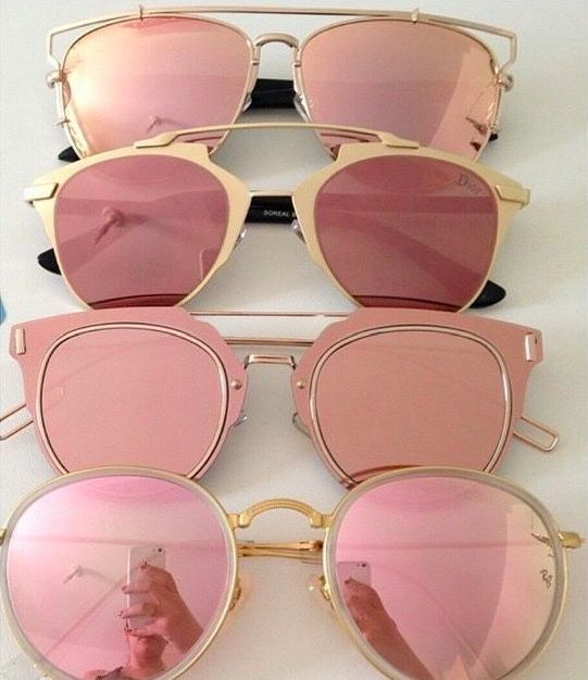 pink mirrored sunglasses #dior