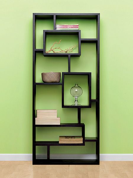 This modern unit transforms storage space into art. You can stack or display objects on the solid-hardwood shelves of varied heights and widths. In chocolate finish, $399, West Elm, www.westelm.com. (Photo: Photo: Jeff McNamara)