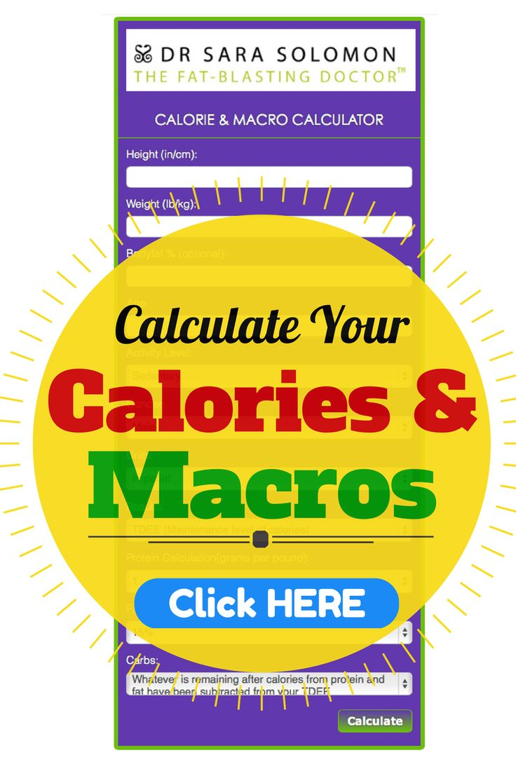 You can't guess your way to your goals. Establish your calories and macros in a matter of seconds: http://www.drsarasolomon.com/calorie-macro-calculator/