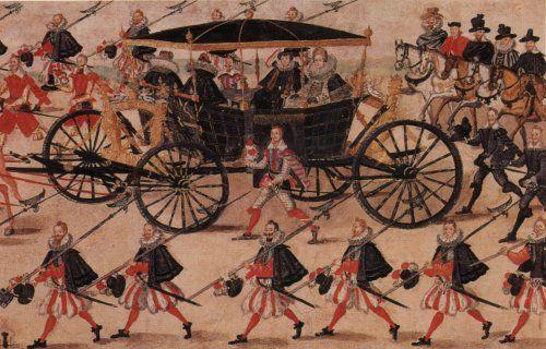 Fragment - Rulon polski - ok 1605 r./ królowa Konstancja