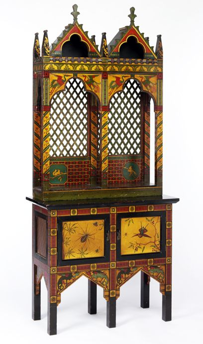 Victorian Gothic revival tall cabinet, England, c.1870-1880. Museum no. W.24-1972: Decor Furniture, Paintings Furniture, Victorian Gothic, Gothic Style, Gothic Revival, Paintings Cabinets, Furniture Style, Victorian Furniture, Albert Museums