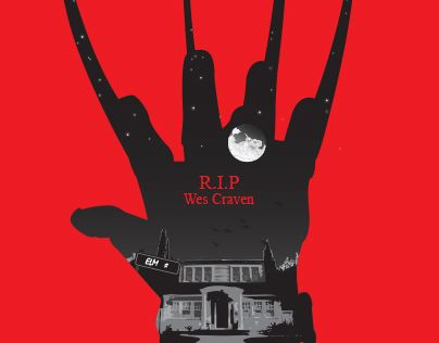 """Check out new work on my @Behance portfolio: """"Wes Craven"""" http://on.be.net/1JryFuG"""