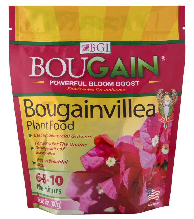 There is no other bougie fertilizer we trust more then our own BouGain®! After 20 years of growing bougs and 10 years of research to find the right mix, we've found the perfect balance of nutrients to give our bougs healthy roots and outstanding color. Available in 2lb (pictured), 10lb, or 50lb!