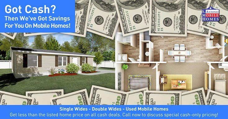Got cash to put down on a home today? For a limited time, you can save on cash-only deals. We've got Single Wides, Double Wide, and Used Mobile Homes! See ALL of our Inventory Here: