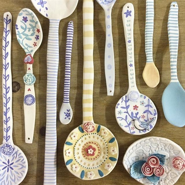 regram @kalmondceramics Work in progress...glazing these beauties this morning ready for @unittwelve SPOON exhibition later this month #wip #handmade #porcelain #spoons #katiealmondceramics #unittwelve #exhibition