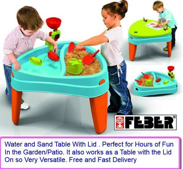 Playtable Sand Water Lid Table Garden Toys Children Water Tables Kids Multi Use