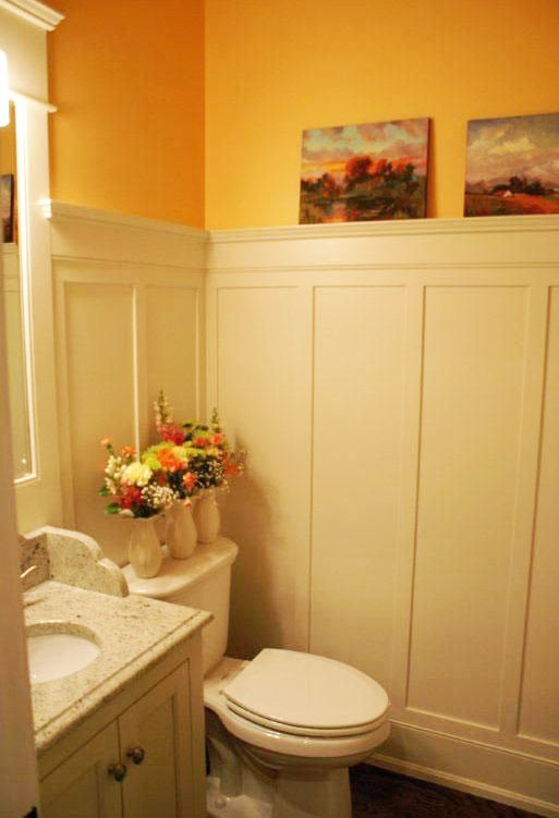 Wainscotting For The Powder Room Posted By Deb Andrea