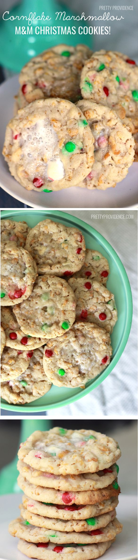 Cornflake Marshmallow M&M Christmas Cookies from MichaelsMakers Pretty Providence