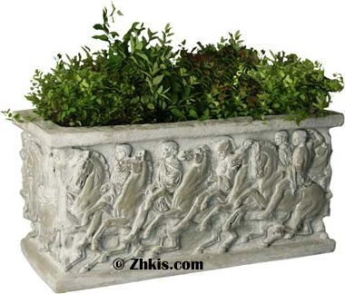 large decorative planter box beautiful on the side and beauty - Decorative Planters