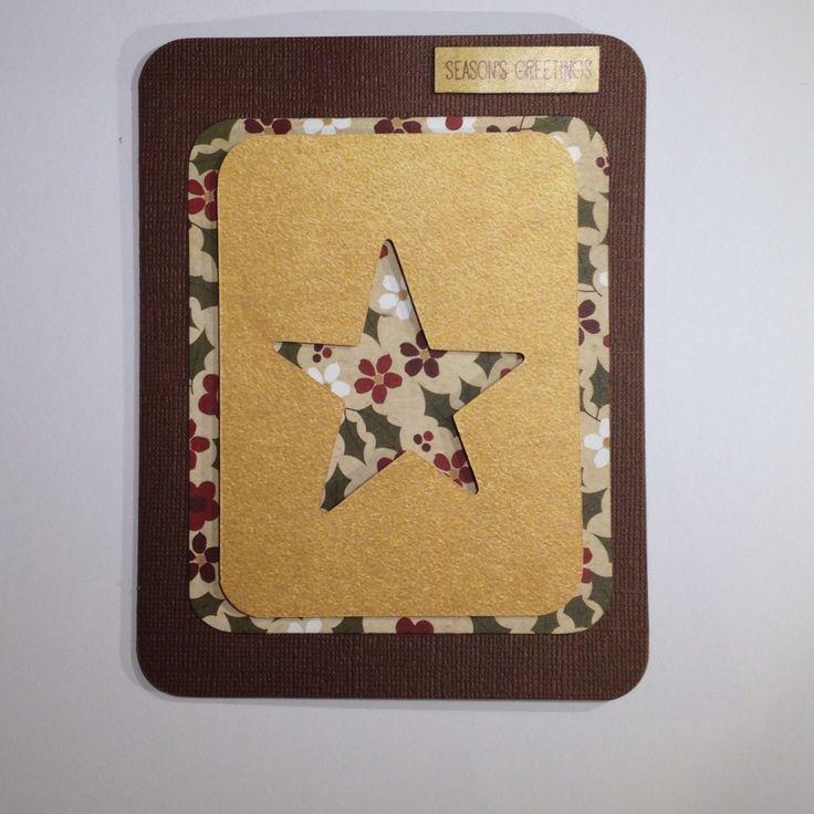 The star Xmas card