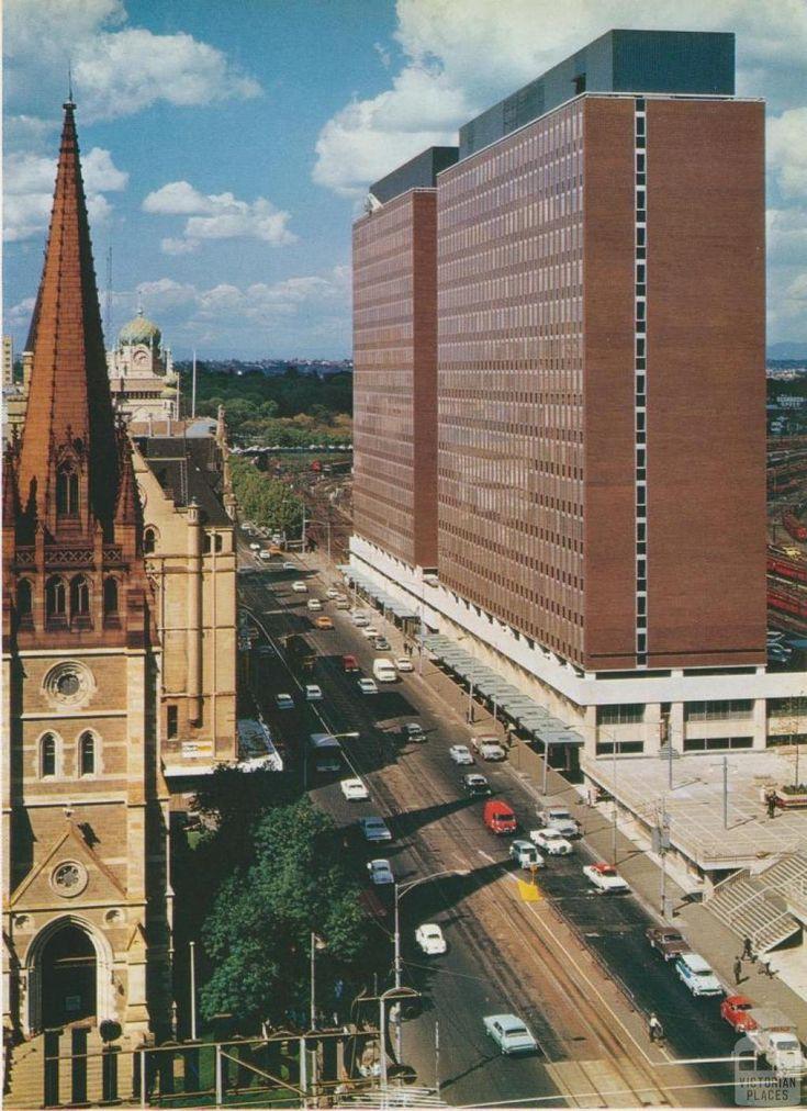 Princes Gate, corner of Flinders and Swanston Streets Melbourne, 1969