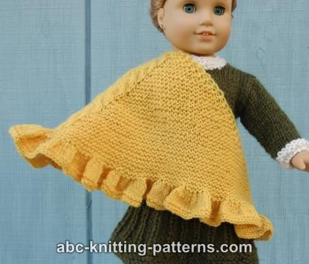 Knitting Pattern For Dolls Shawl : 1000+ images about american girl doll knitting ponchos ...