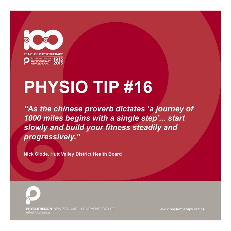 a journey begins with a single step #physiotips #100years